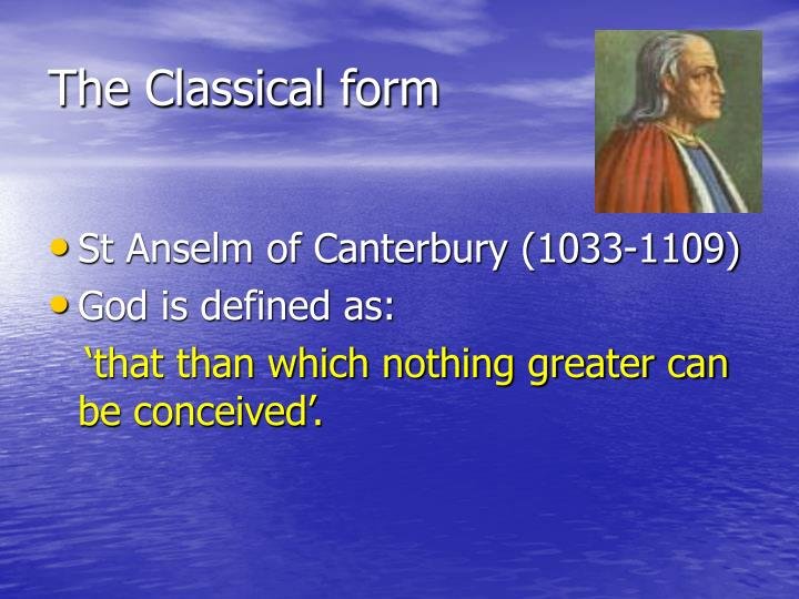 The Classical form
