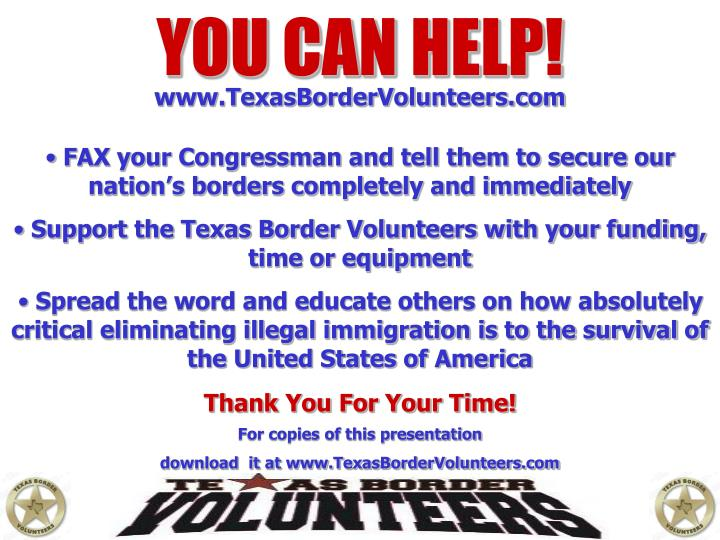 YOU CAN HELP!