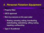 4 personal flotation equipment