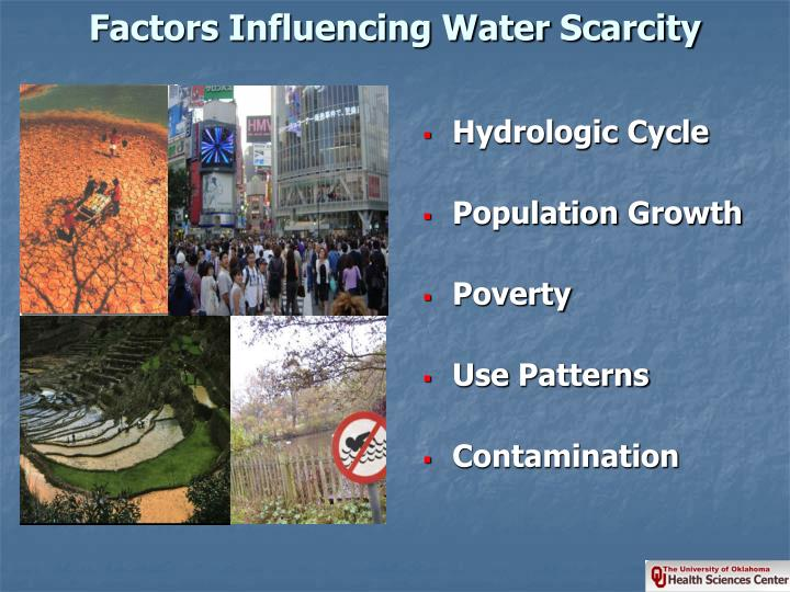 Factors Influencing Water Scarcity