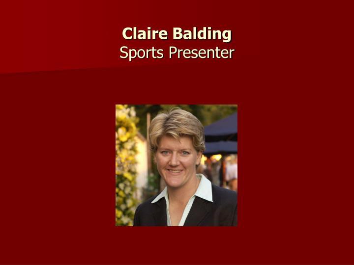 Claire Balding