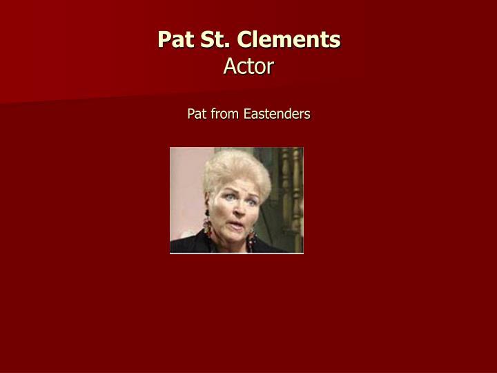 Pat St. Clements