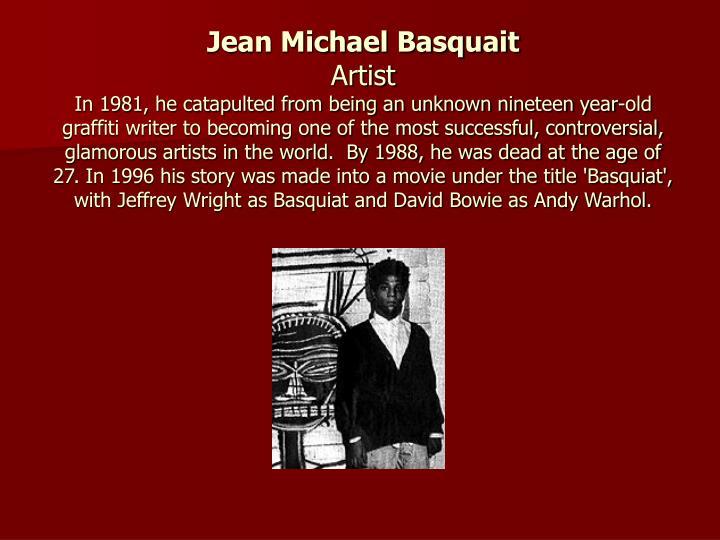 Jean Michael Basquait