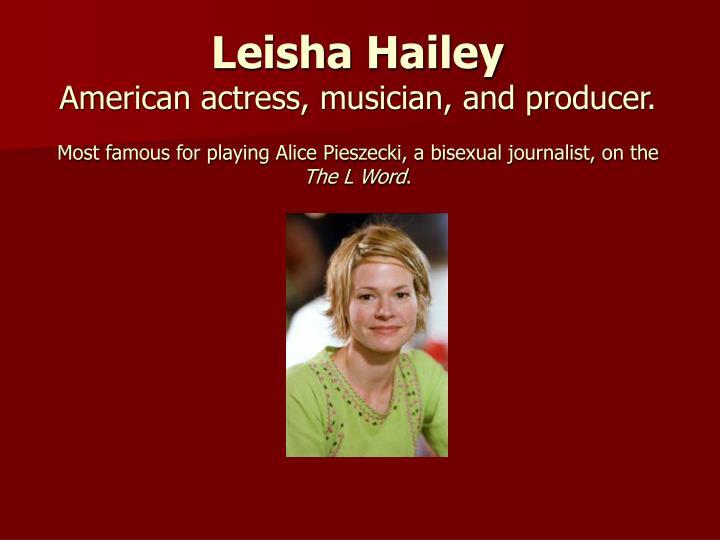 Leisha Hailey