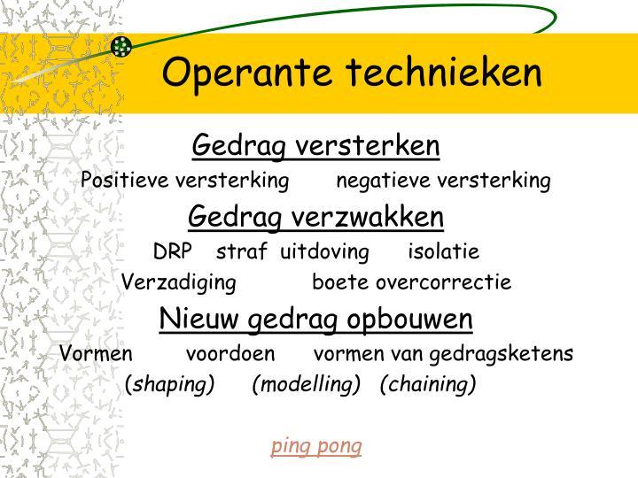 Operante technieken