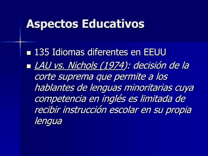 Aspectos Educativos