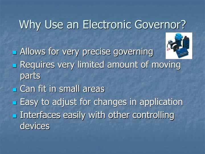 Why Use an Electronic Governor?