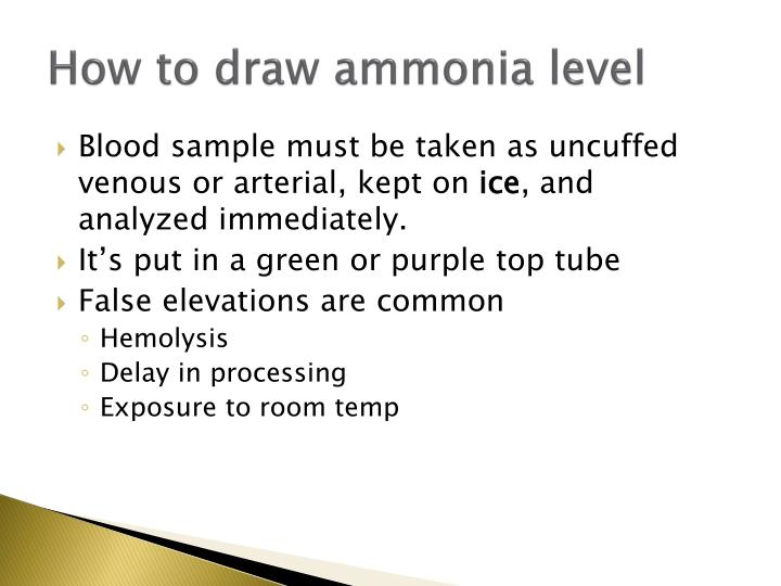 How to draw ammonia level