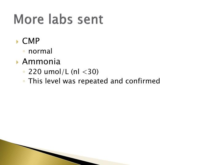 More labs sent