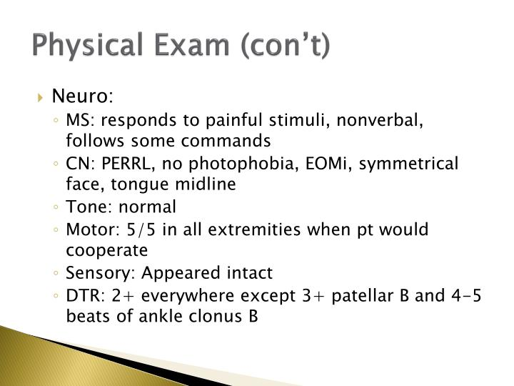 Physical Exam (