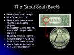 the great seal back