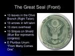 the great seal front