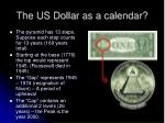 the us dollar as a calendar