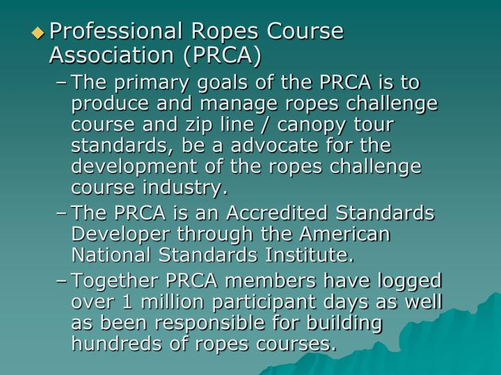 Professional Ropes Course Association (PRCA)