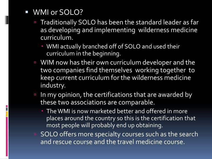 WMI or SOLO?