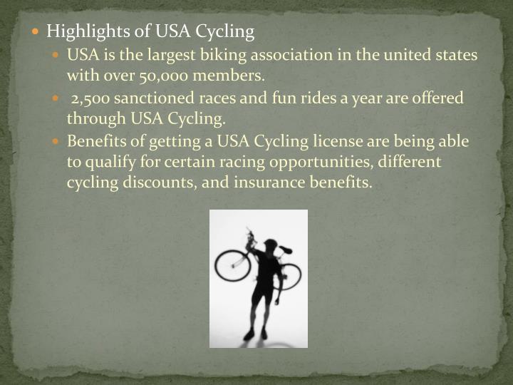 Highlights of USA Cycling