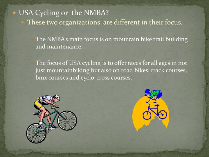 USA Cycling or  the NMBA?