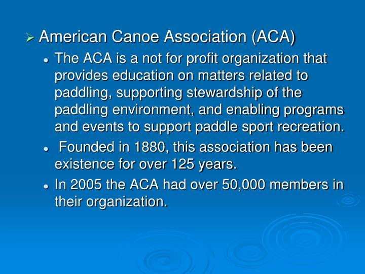American Canoe Association (ACA)