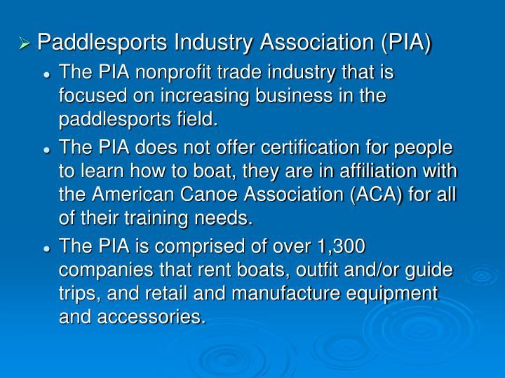 Paddlesports Industry Association (PIA)