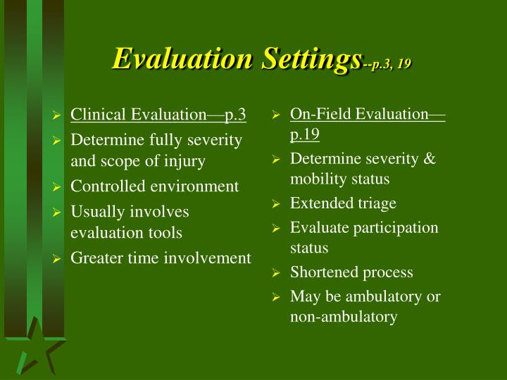 Evaluation Settings