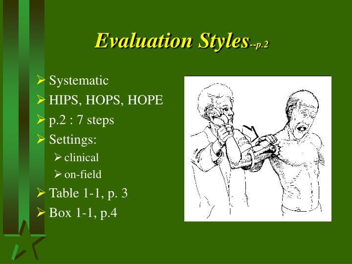 Evaluation styles p 2