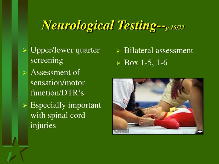 Neurological Testing--