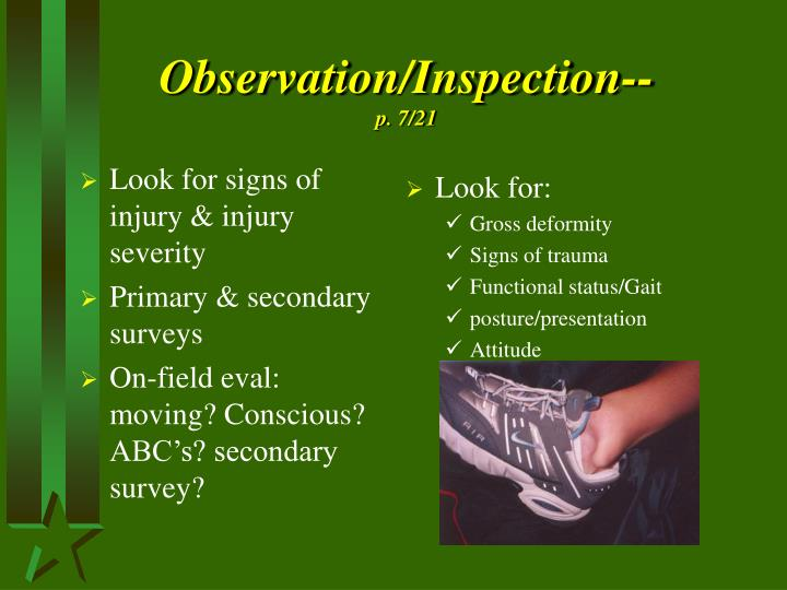Observation/Inspection--