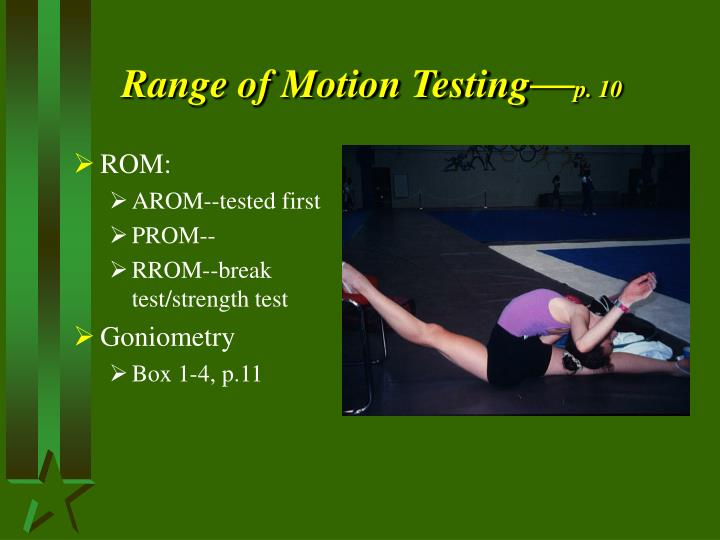Range of Motion Testing