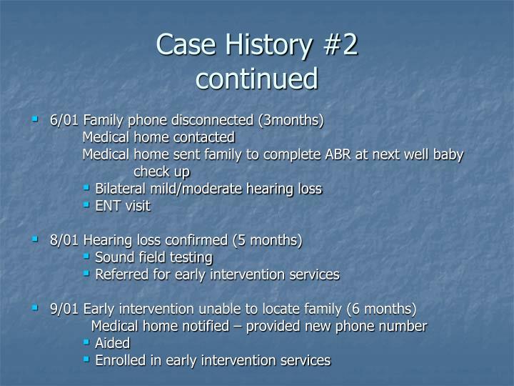 Case History #2