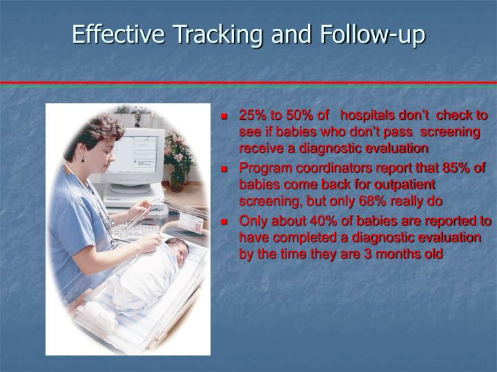 Effective Tracking and Follow-up