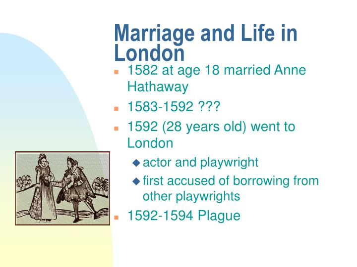 Marriage and Life in London