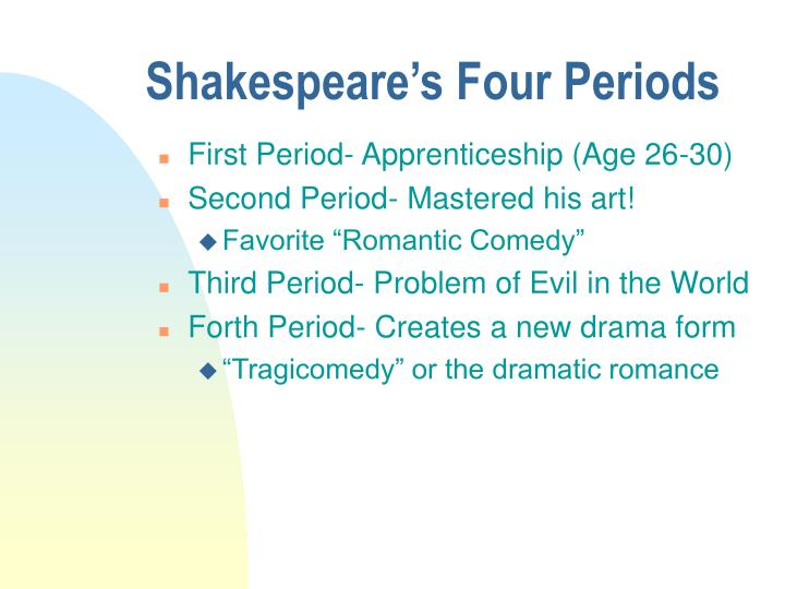 Shakespeare's Four Periods