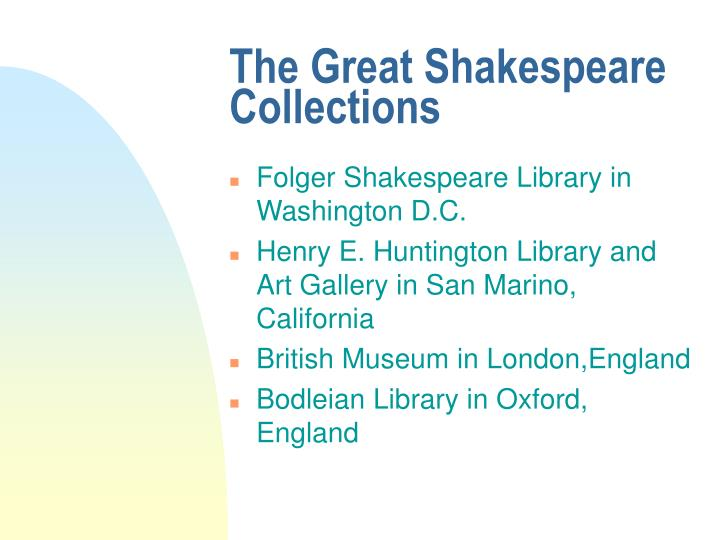 The Great Shakespeare Collections