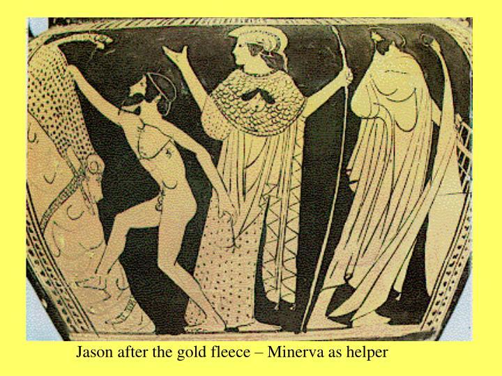 Jason after the gold fleece – Minerva as helper