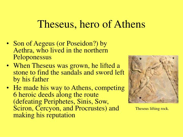 Theseus, hero of Athens
