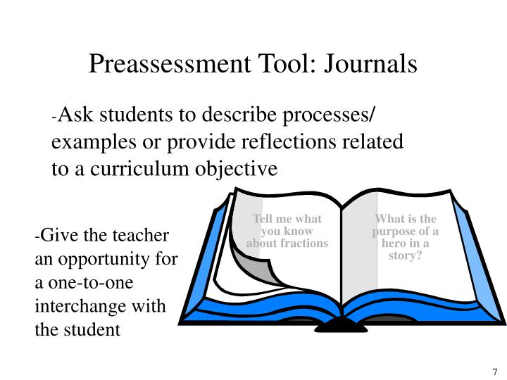 Preassessment Tool: Journals