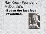 ray kroc founder of mcdonald s