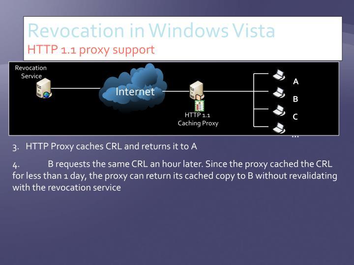 Revocation in Windows Vista