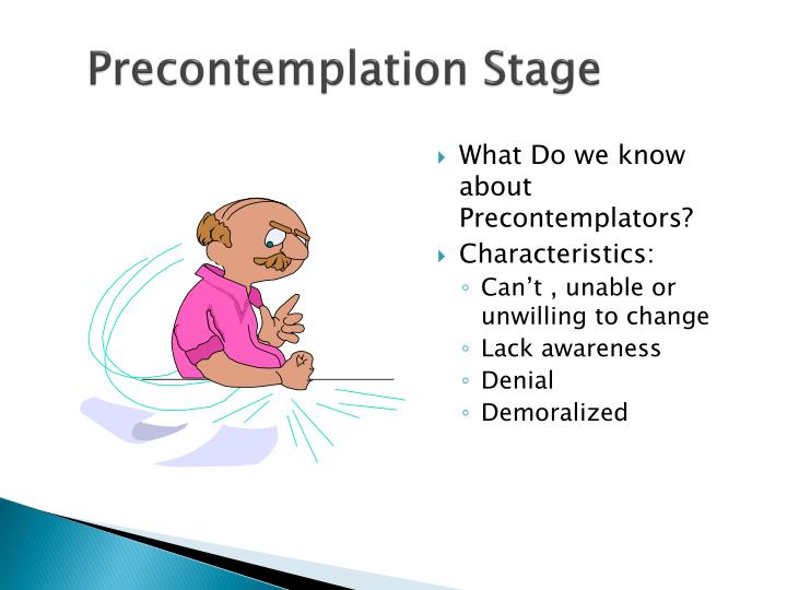Precontemplation Stage
