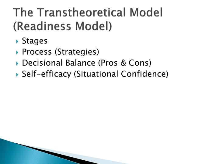 The Transtheoretical Model (Readiness Model)