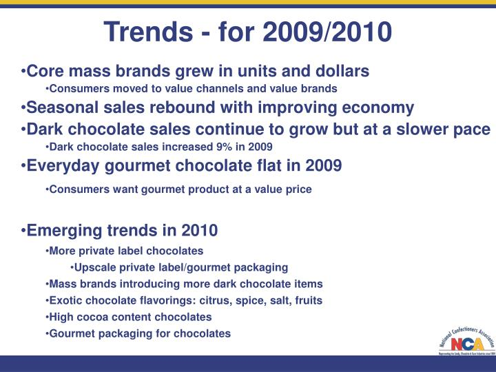 Trends - for 2009/2010