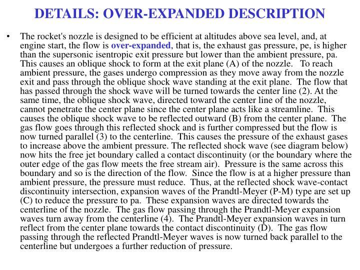 DETAILS: OVER-EXPANDED DESCRIPTION