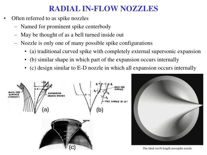 RADIAL IN-FLOW NOZZLES