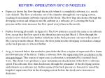 review operation of c d nozzles
