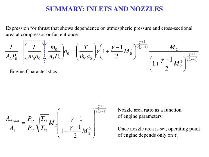 SUMMARY: INLETS AND NOZZLES