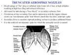 truncated aerospike nozzles
