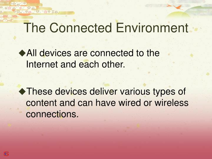 The Connected Environment