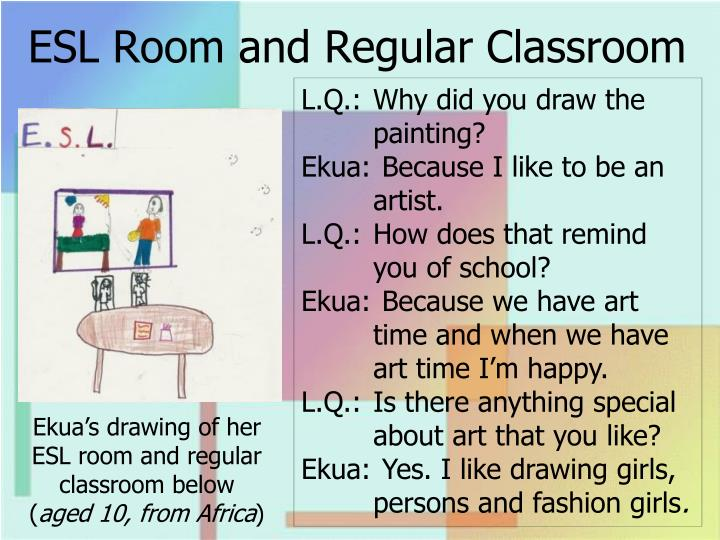 ESL Room and Regular Classroom