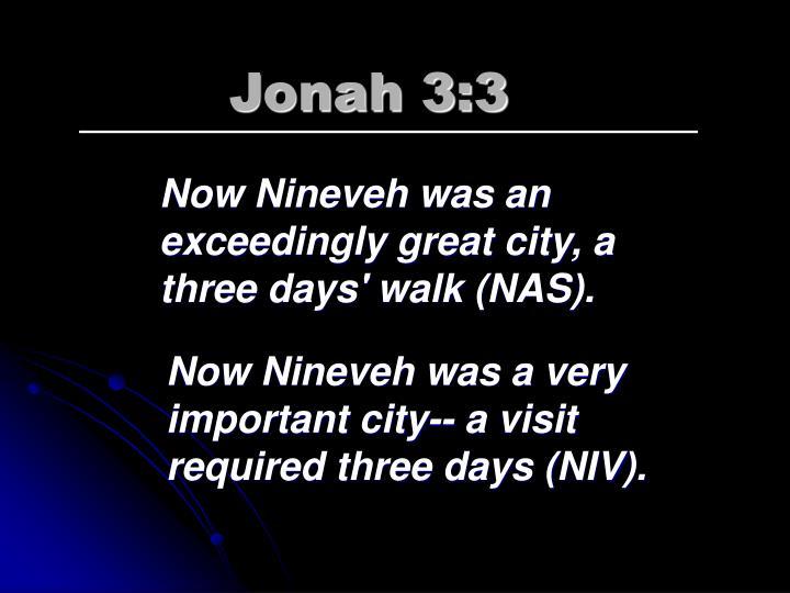 Jonah 3:3