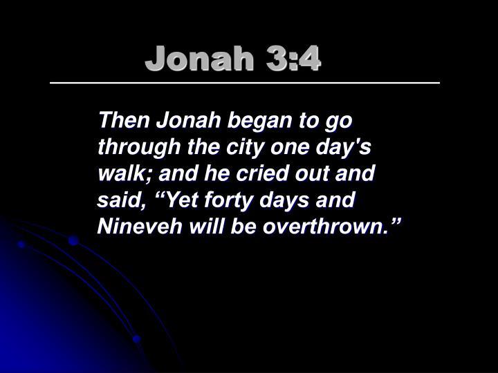 Jonah 3:4